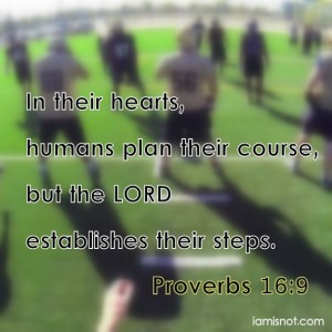 In their hearts humans plan their course, but the LORD establishes their steps. Proverbs 16:9